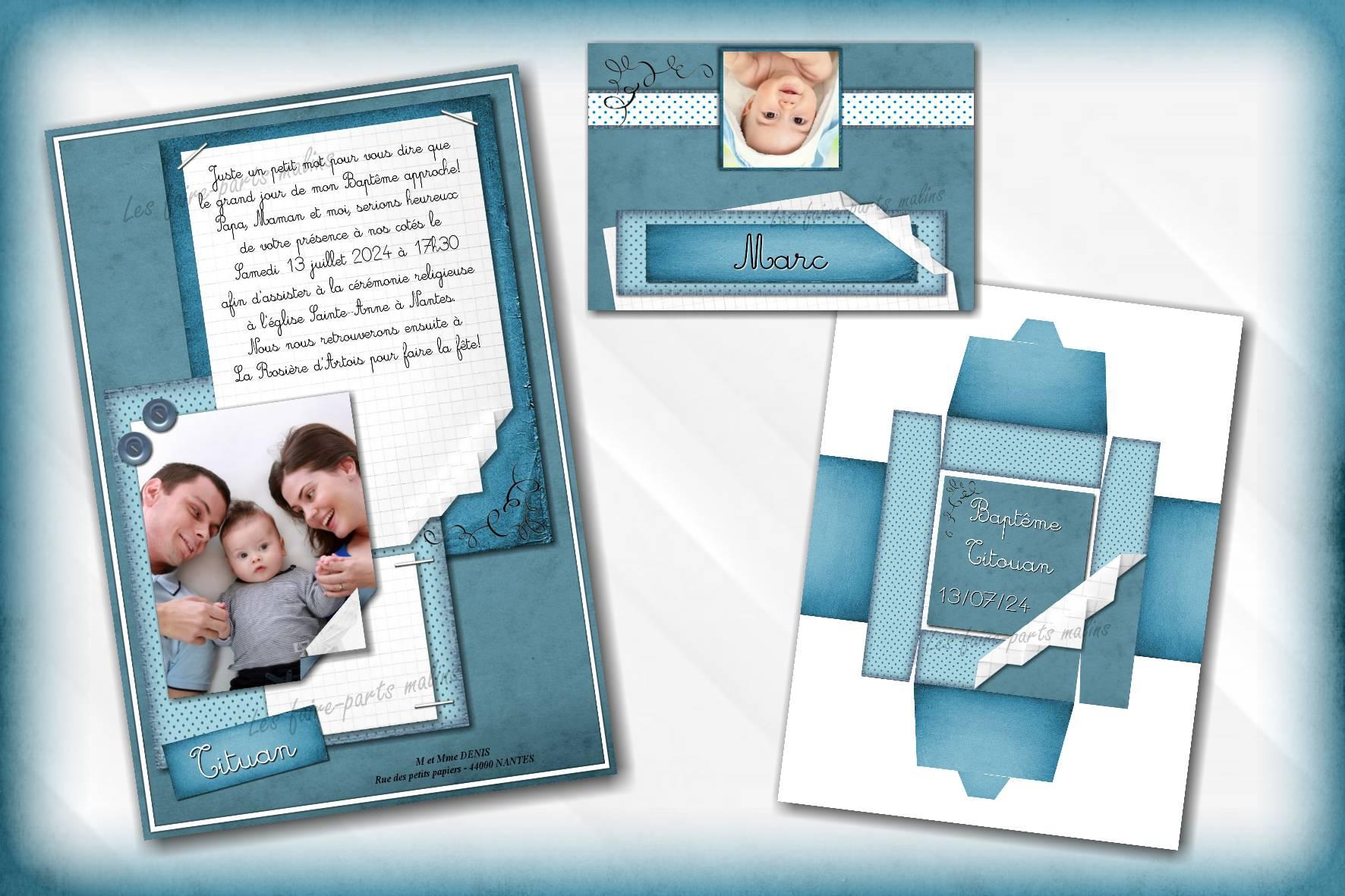 collection papier bleu