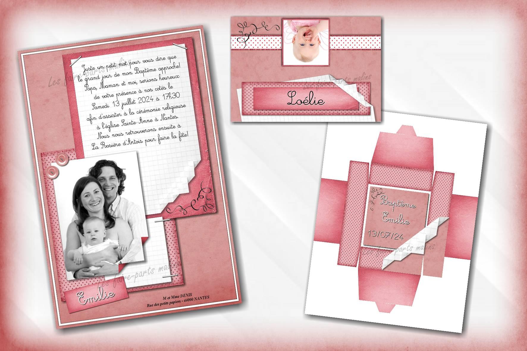 collection papier rose
