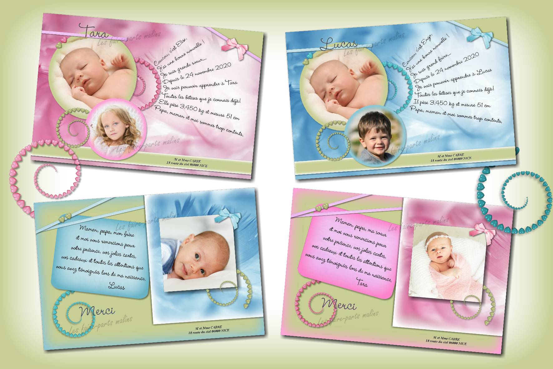 collection petits coeurs