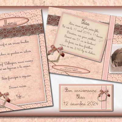 collection rose et marron