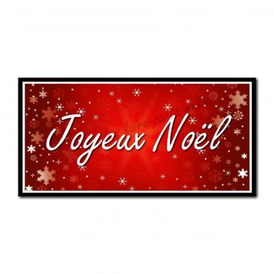 Etiquettes cadeau à personnaliser fond rouge avec flocon