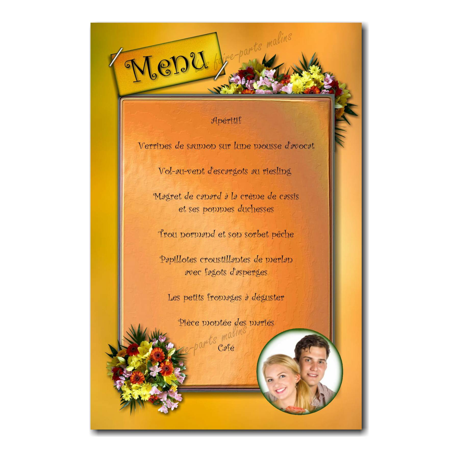 03 mariage menu photo