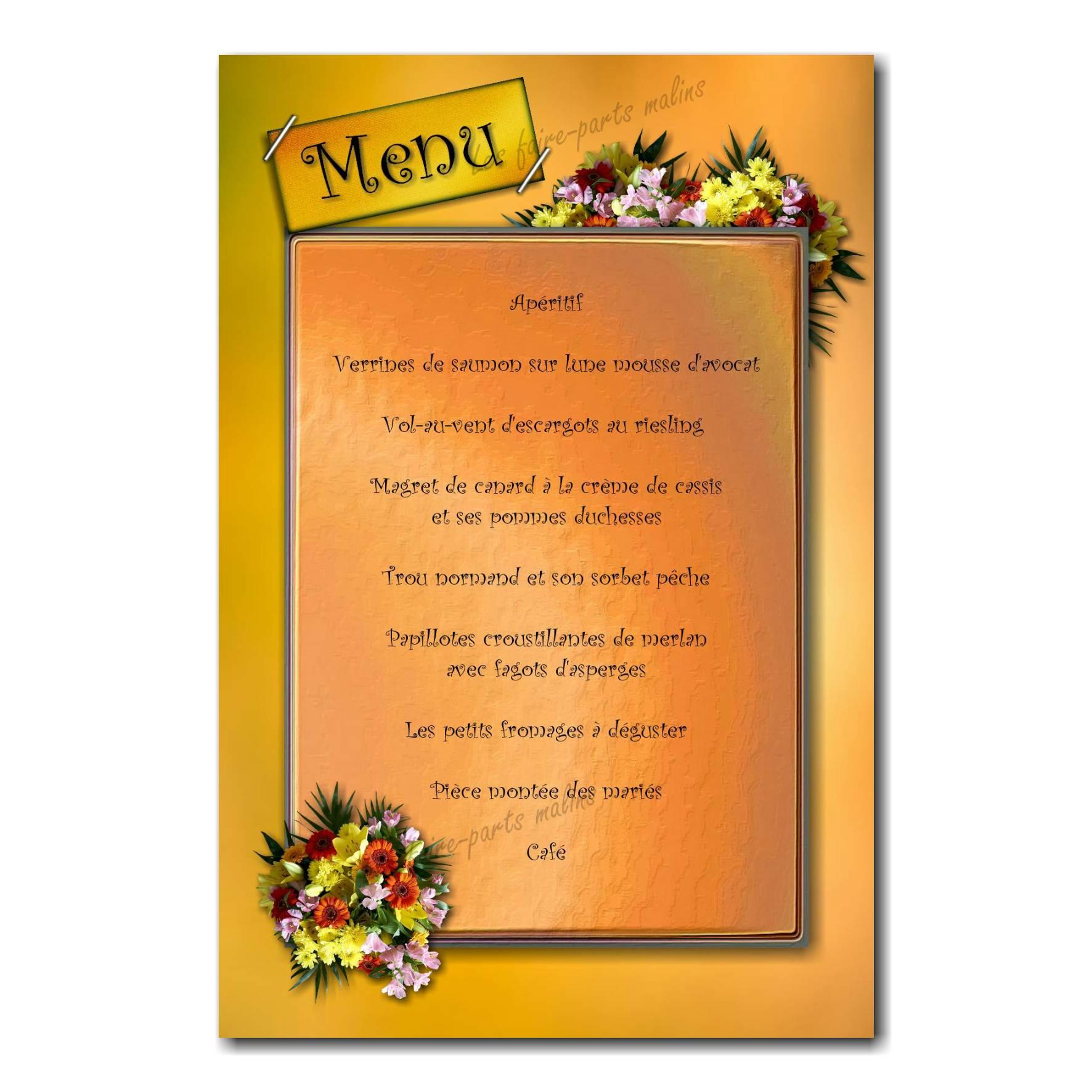 03 mariage menu