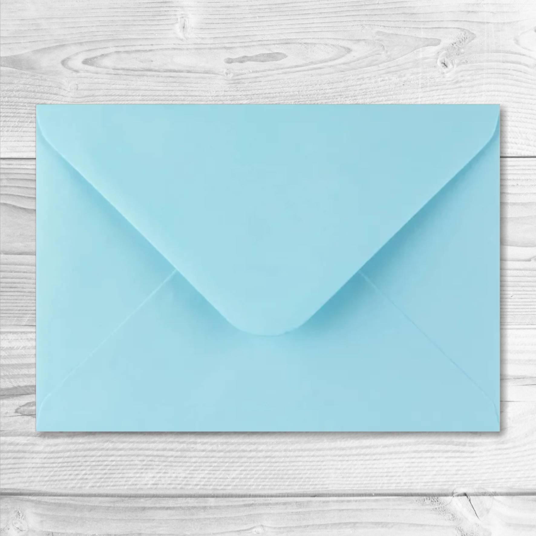 enveloppe bleu clair 13 x 19 cm