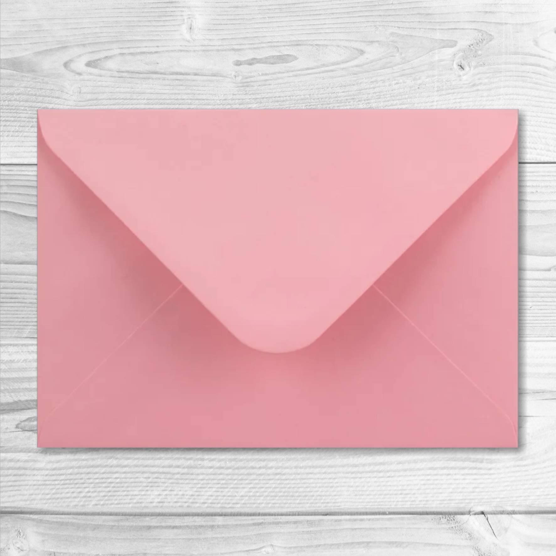 enveloppe rose clair 13 x 19 cm