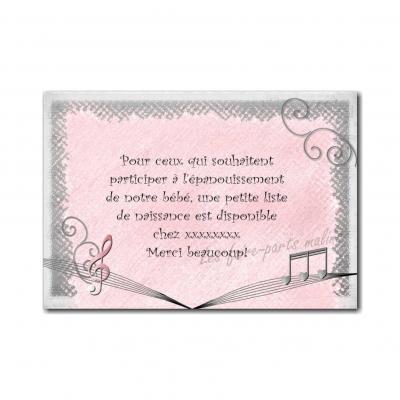 Petite carte thème musique