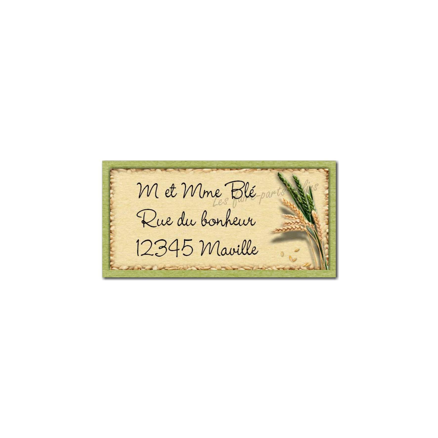 étiquette adresse blé