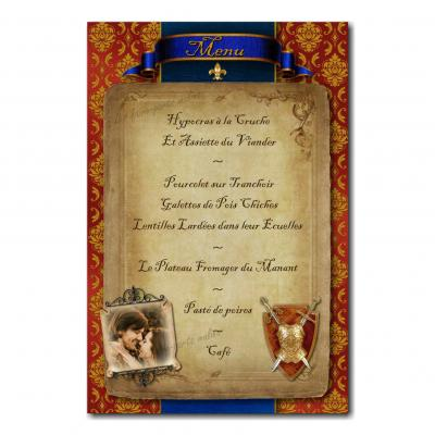 19 mariage menu photo