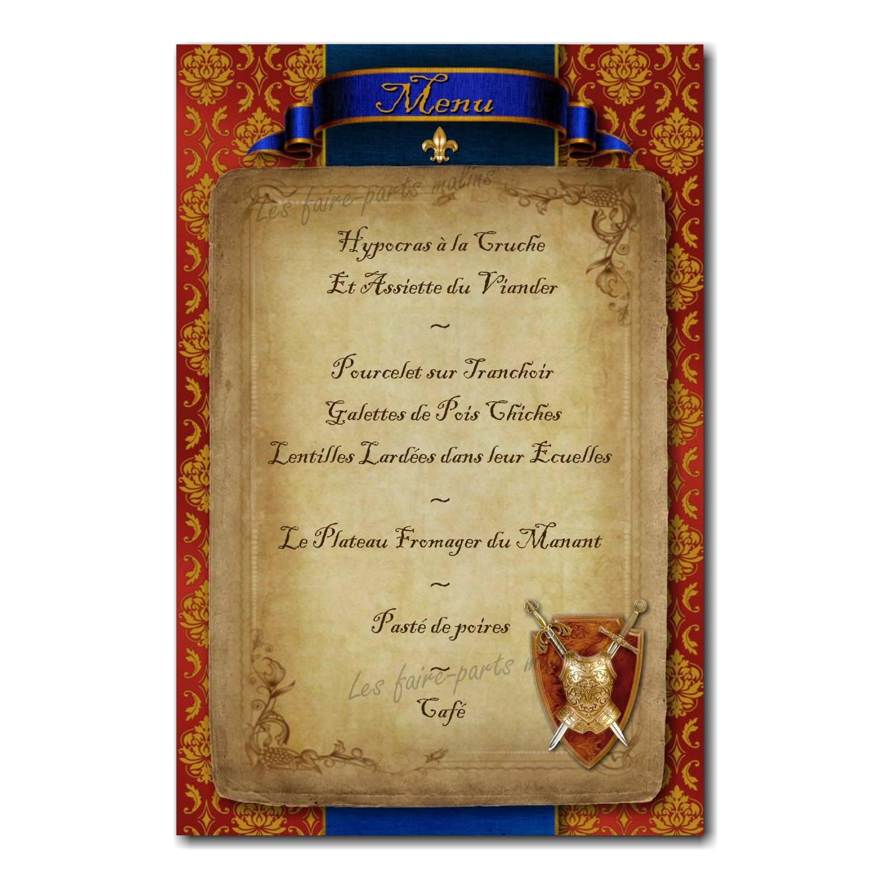 19 mariage menu