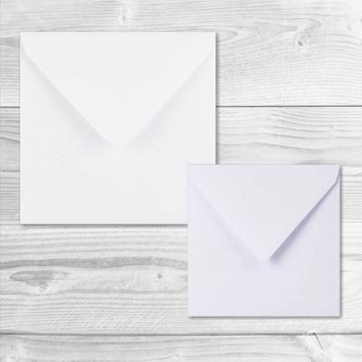 2 enveloppes carrees blanches