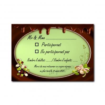coupon réponse noix de pistache et chocolat coulant
