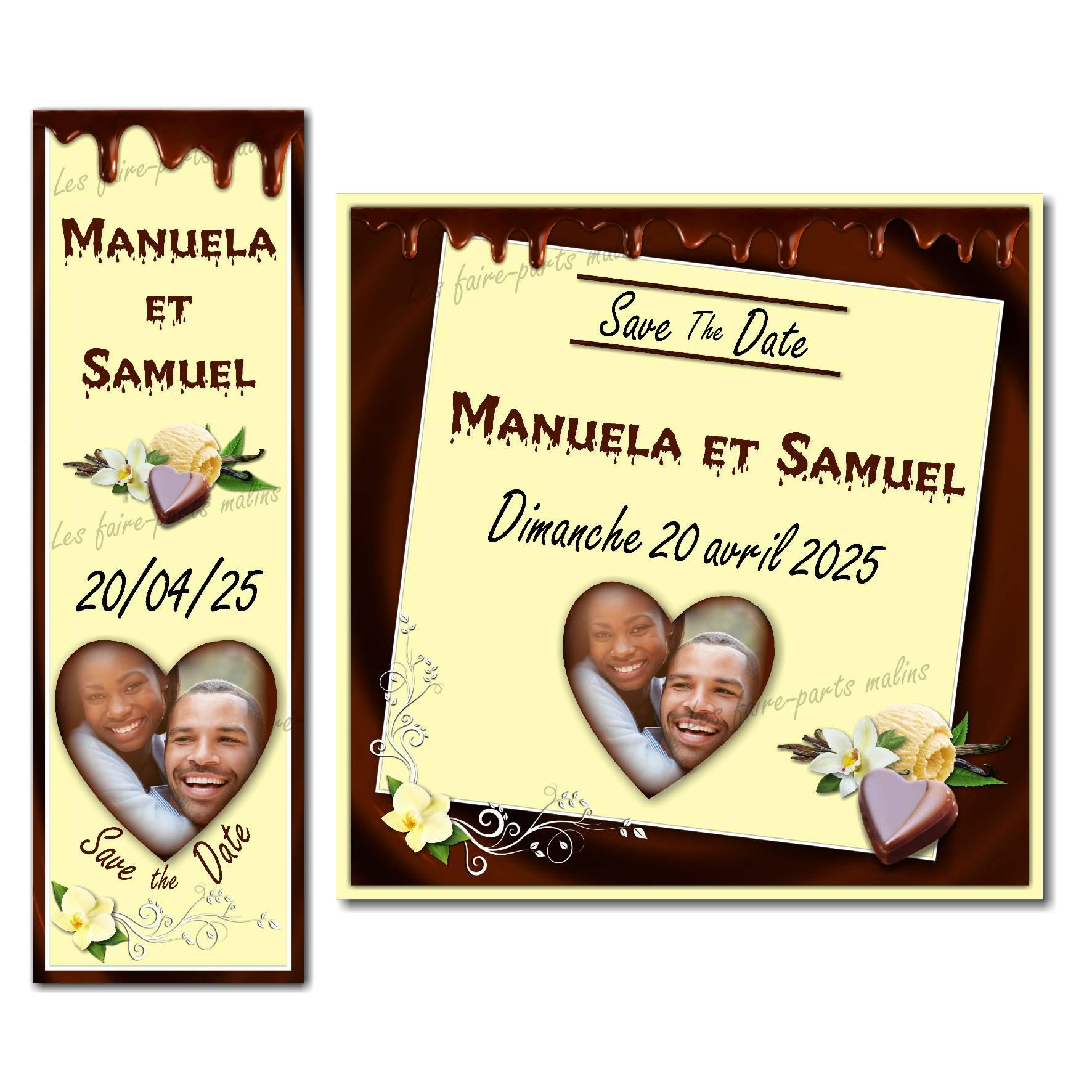 save the date vanille chocolat