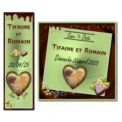 save the date pistache chocolat