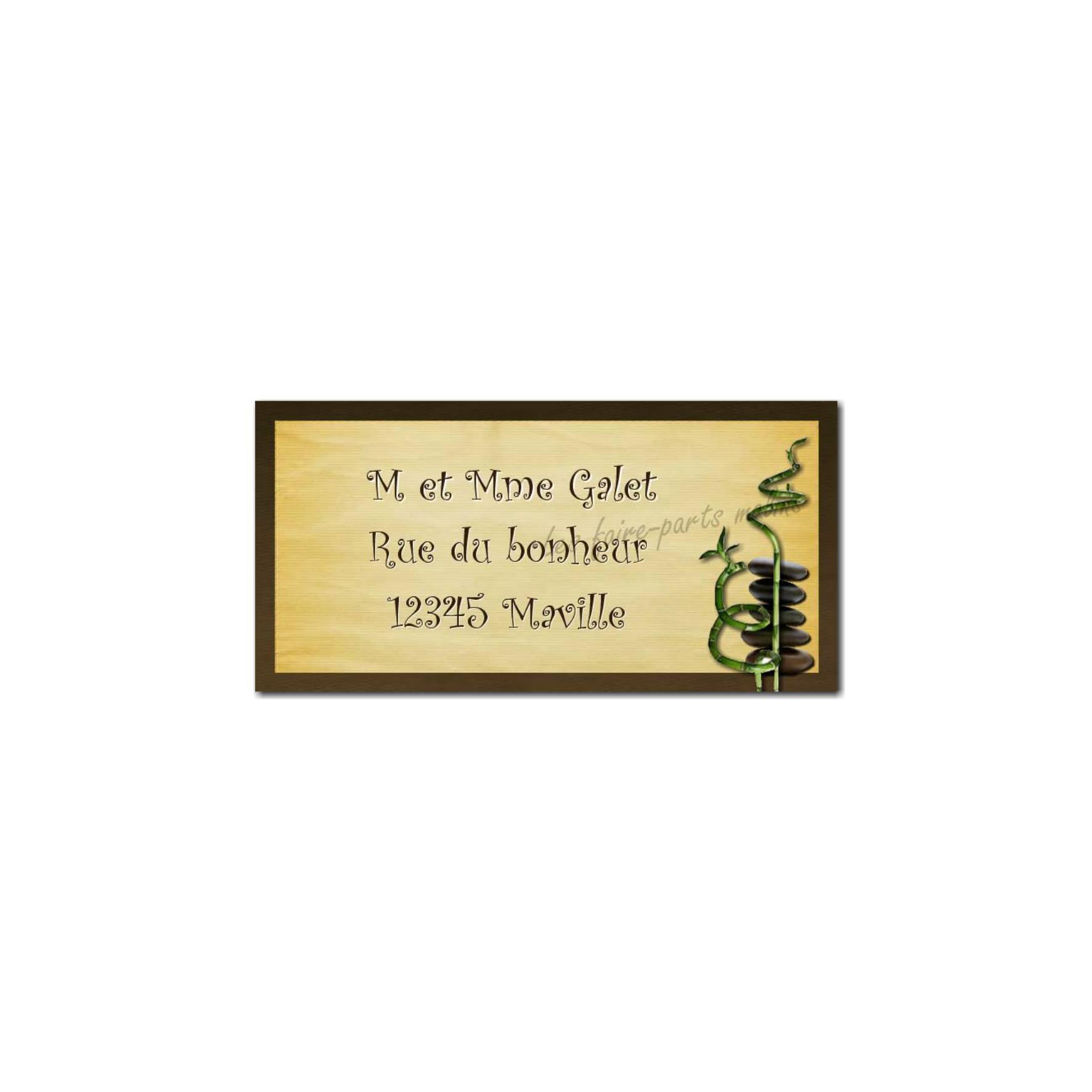 étiquette adresse bambou