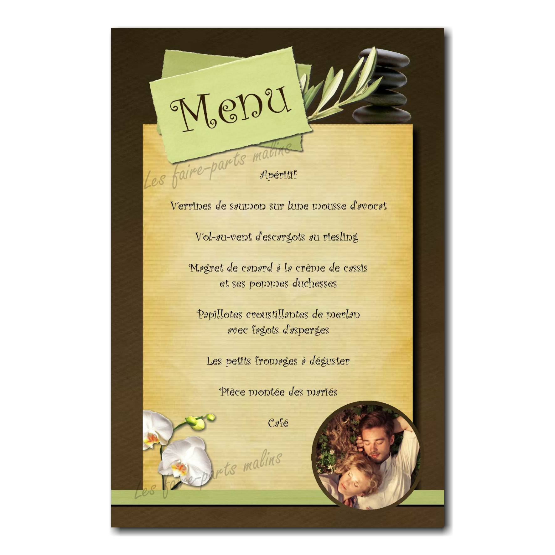 33 mariage menu photo