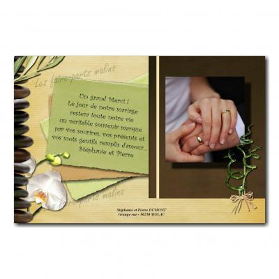 cartes de remerciements zen tige de bambous