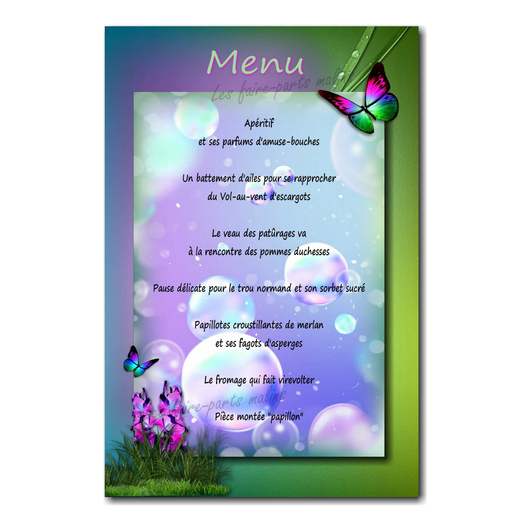 34 fille menu