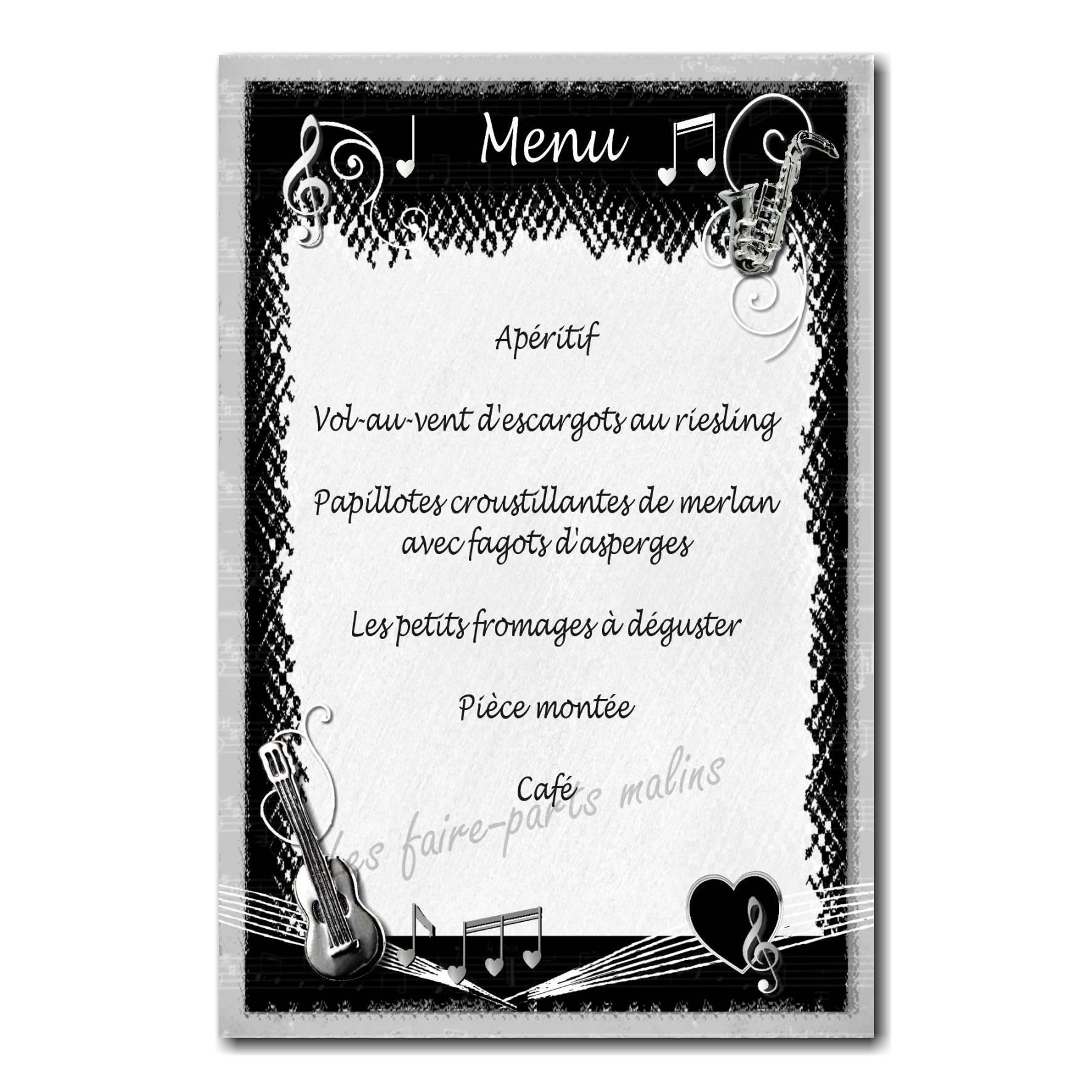 37 mariage menu