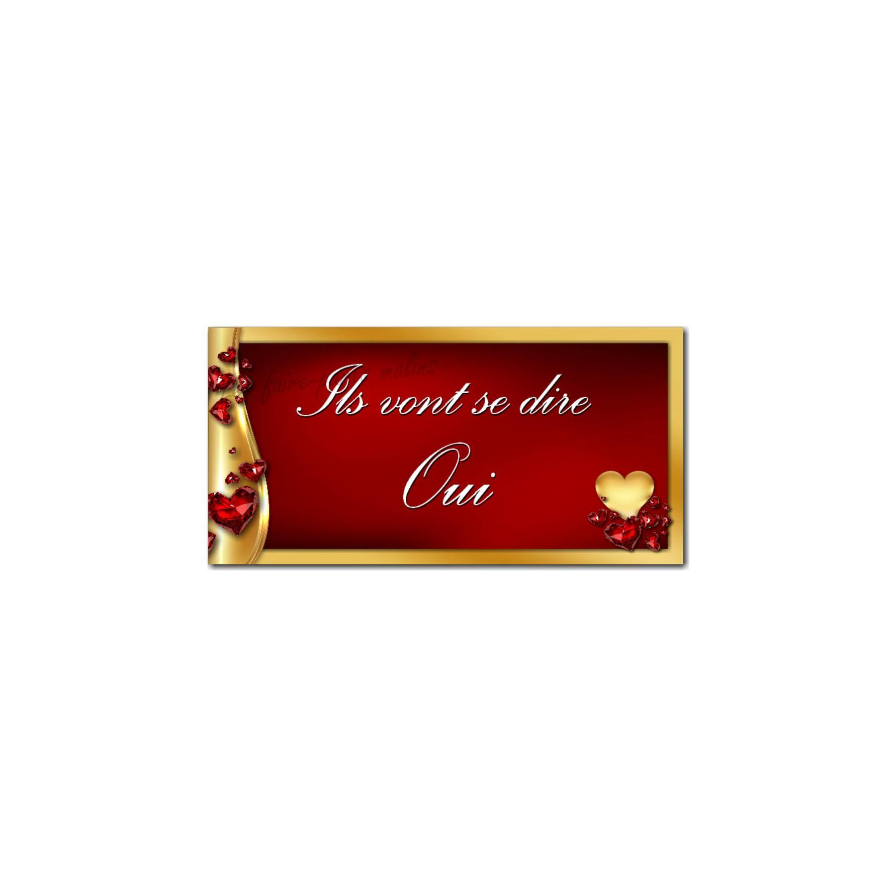 étiquette enveloppe rouge rubis