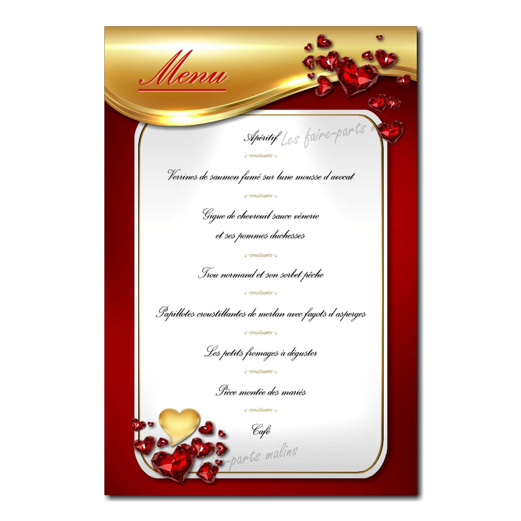 38 mariage menu