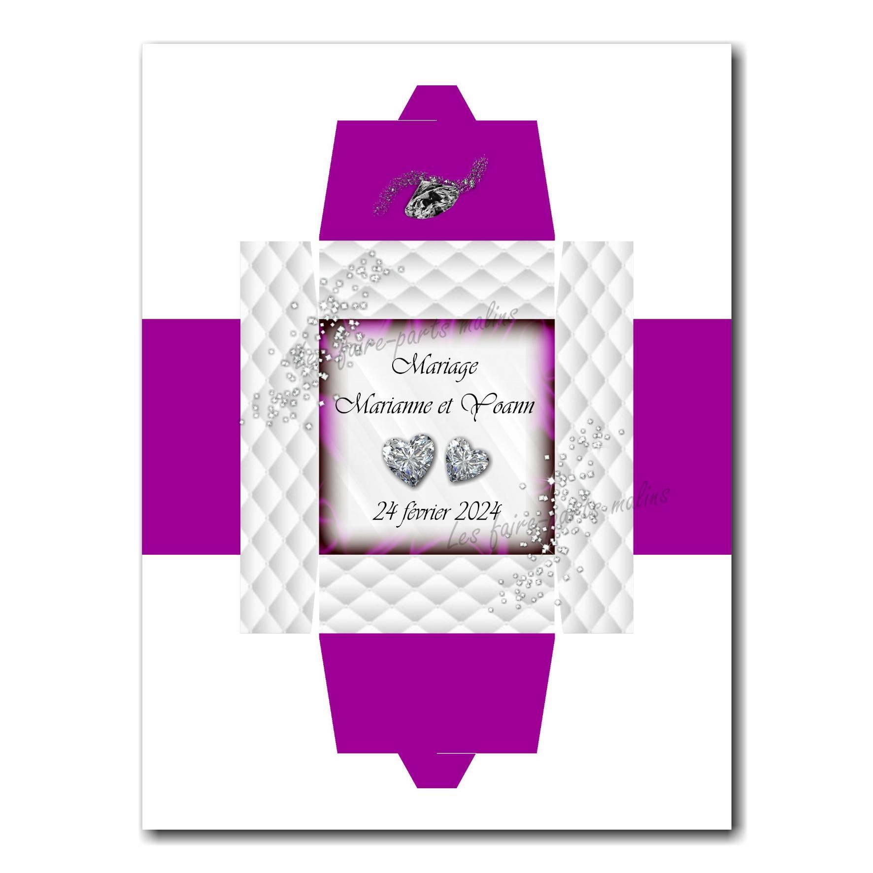 40 mariage boite violet