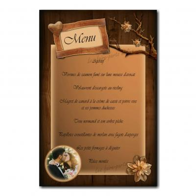 45 mariage menu photo