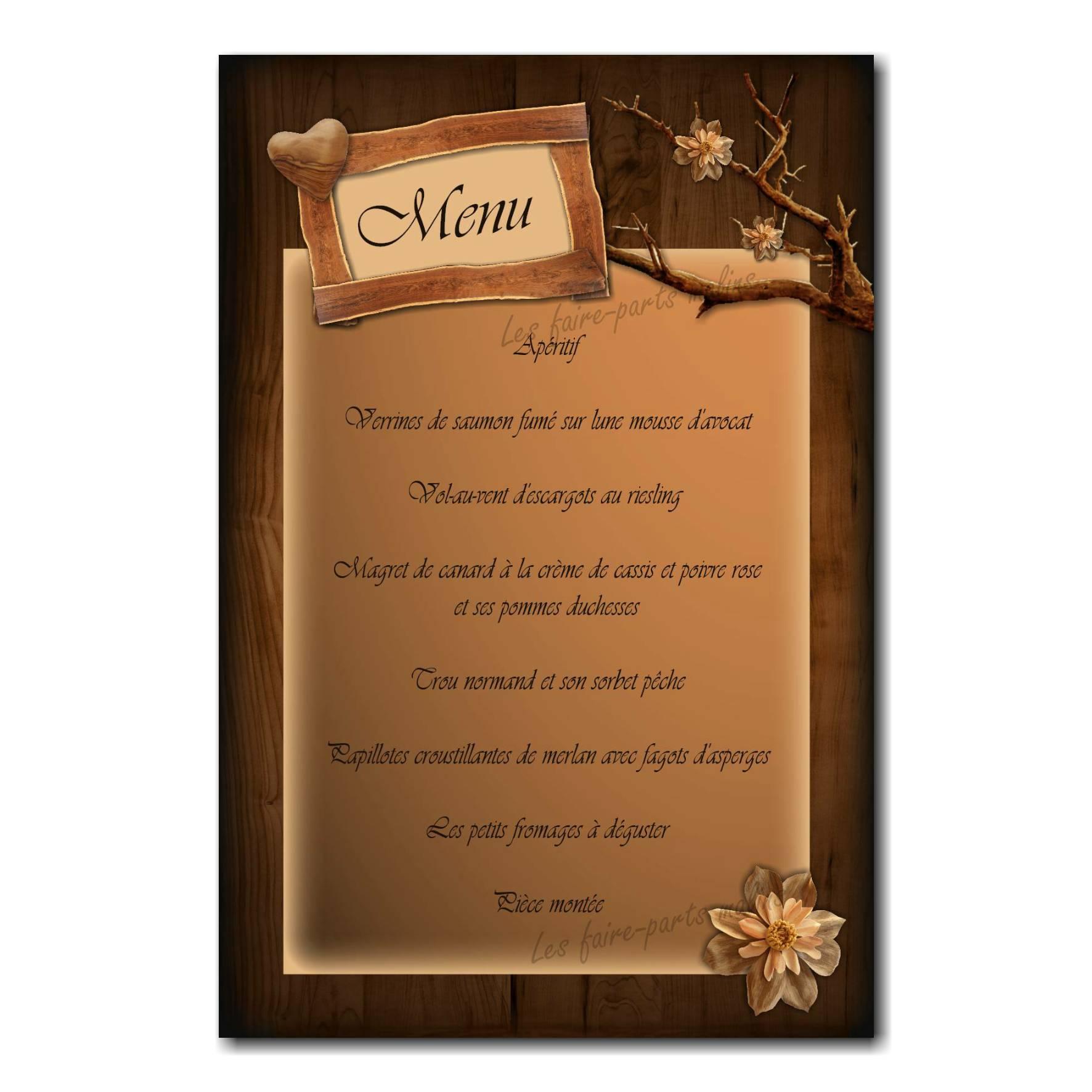 45 mariage menu
