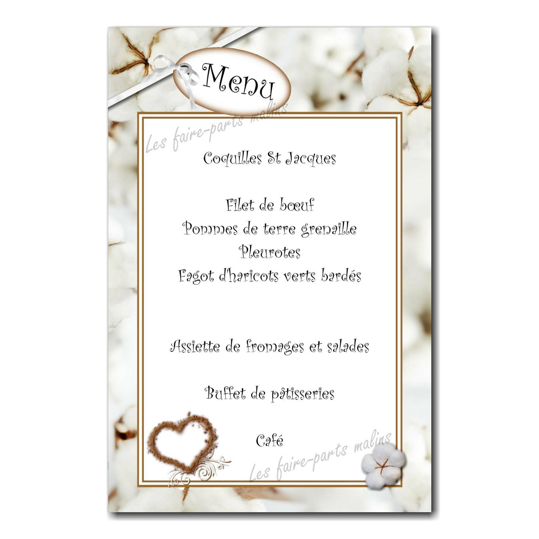 49 mariage menu