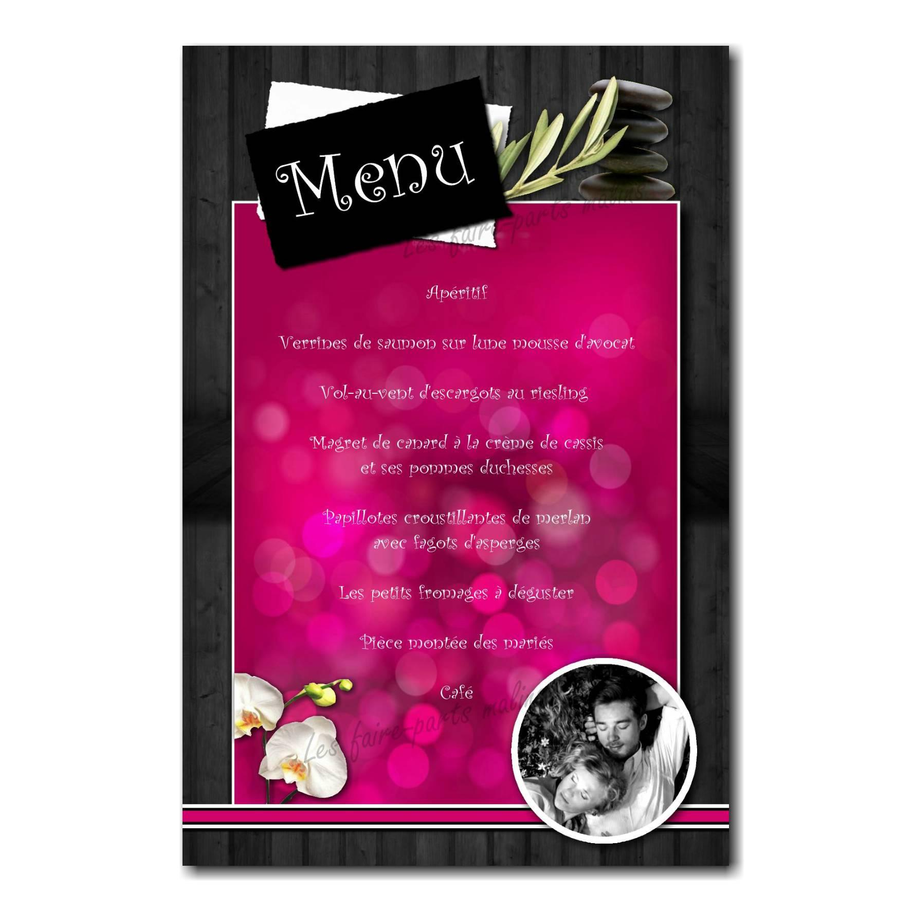 59 mariage menu photo