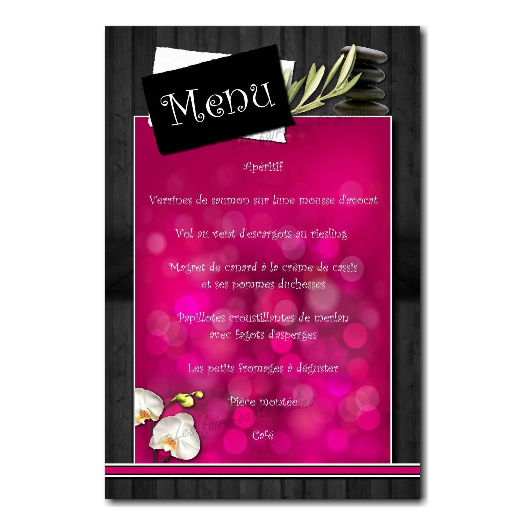 59 mariage menu