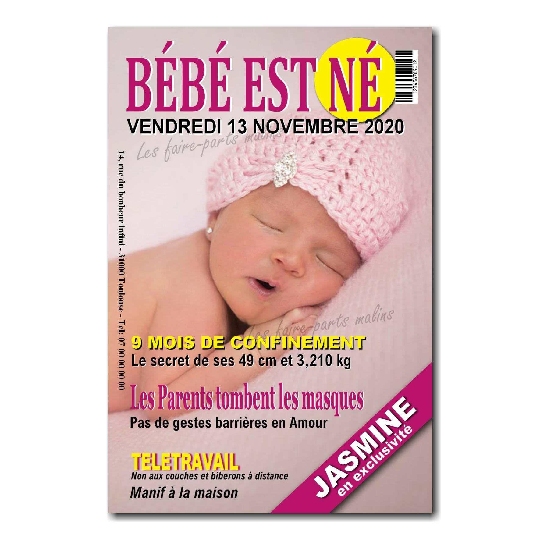 faire part couverture de magazine