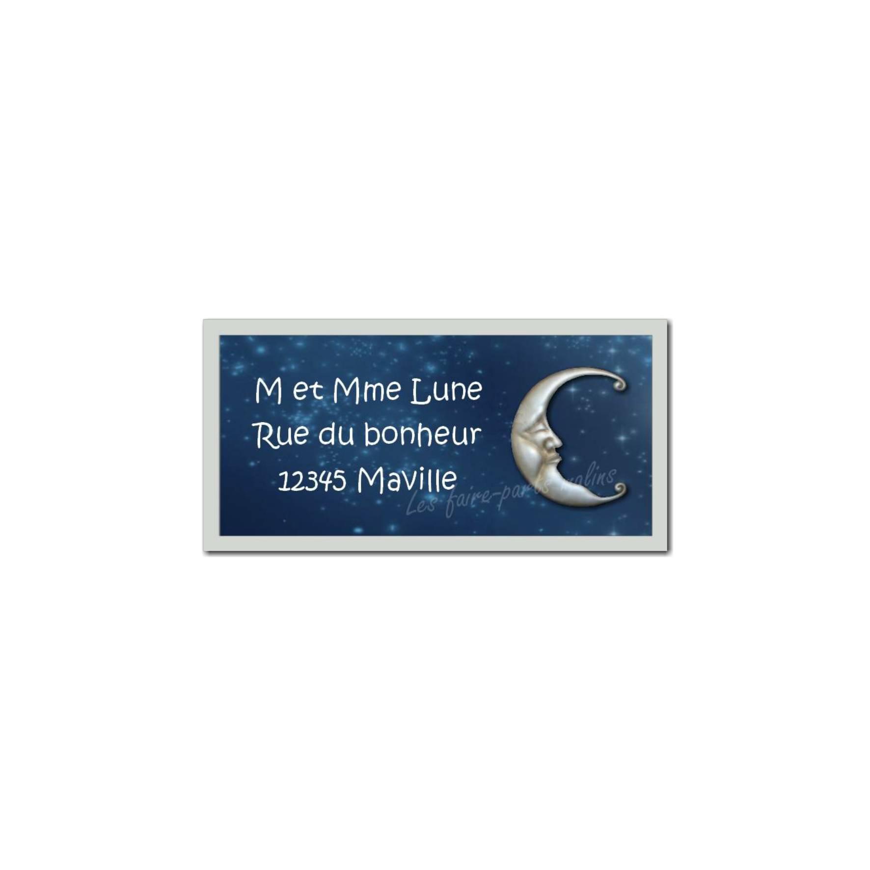 étiquette adresse lune