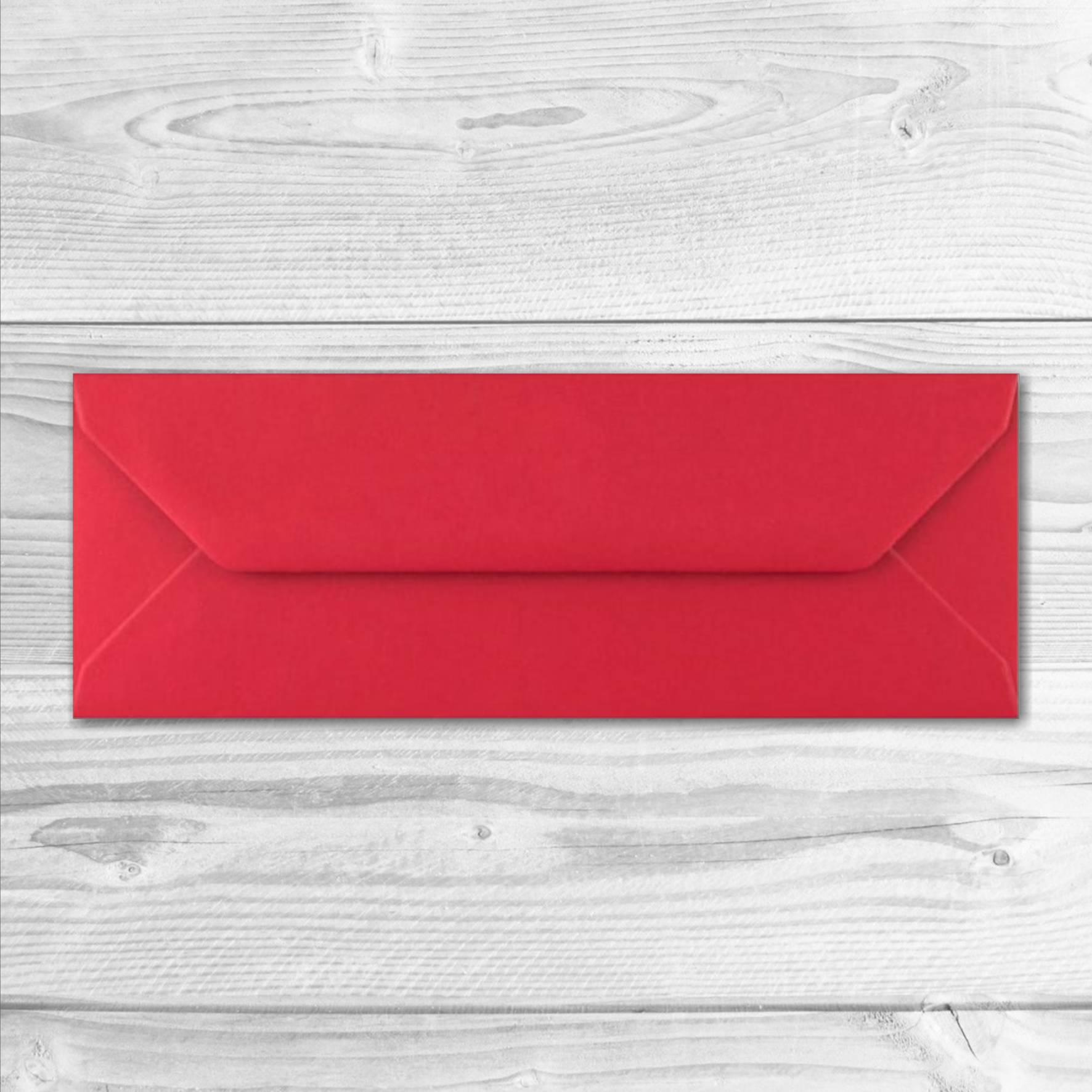 enveloppe rouge format marque-page