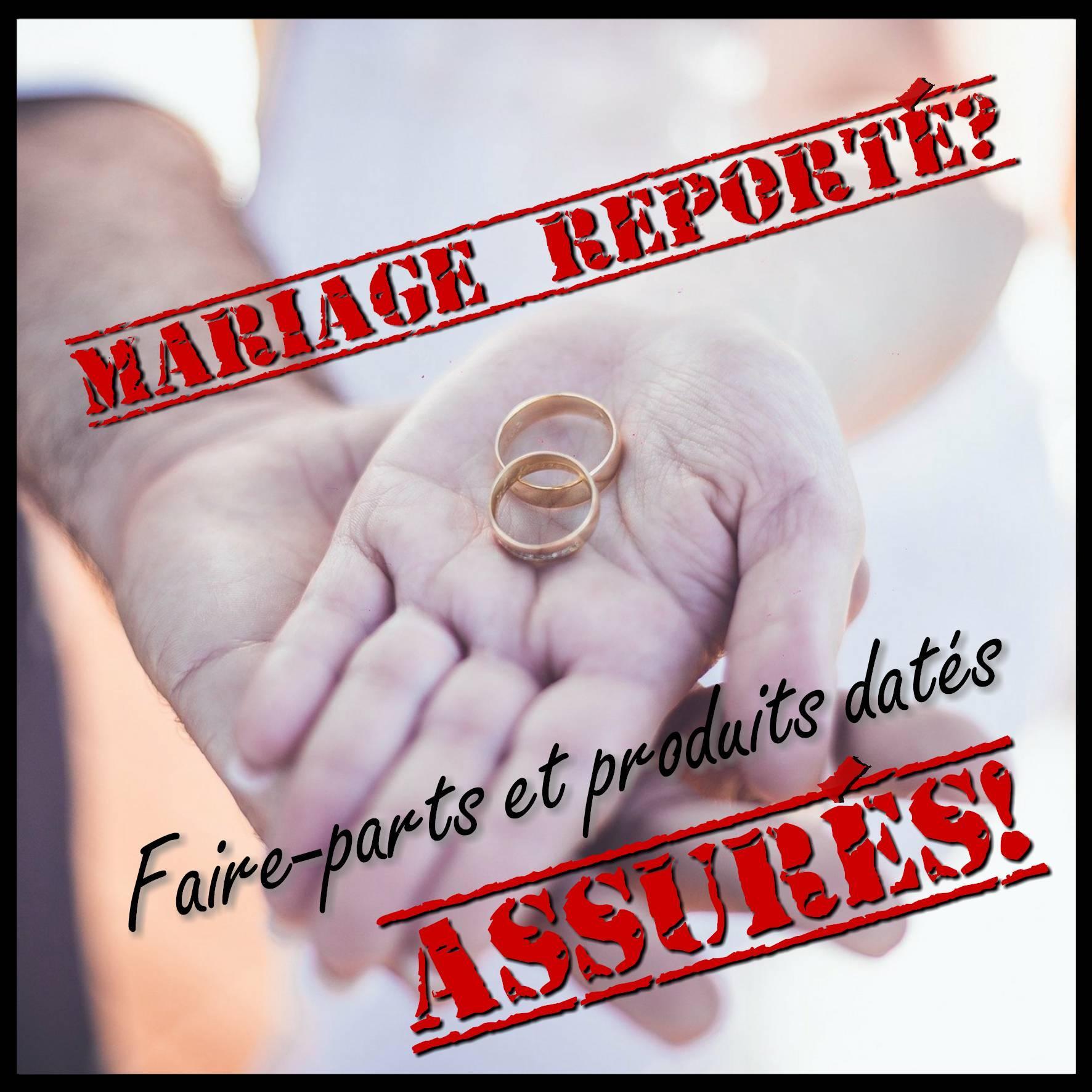 carte annonce annulation mariage ou baptême