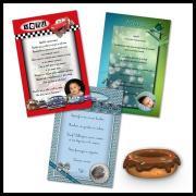 Carte de menu selon thème de baptême garçon
