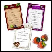 Carte de menu qui s'invite à votre mariage, peu couteuse