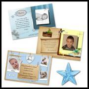 carte de remerciements pour naissance ou baptême d'un garçon