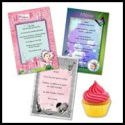 Cartes pour menu de baptême et d'anniversaire fille à moindre coût