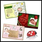 cartes de remerciements de naissance ou de baptême pour fille