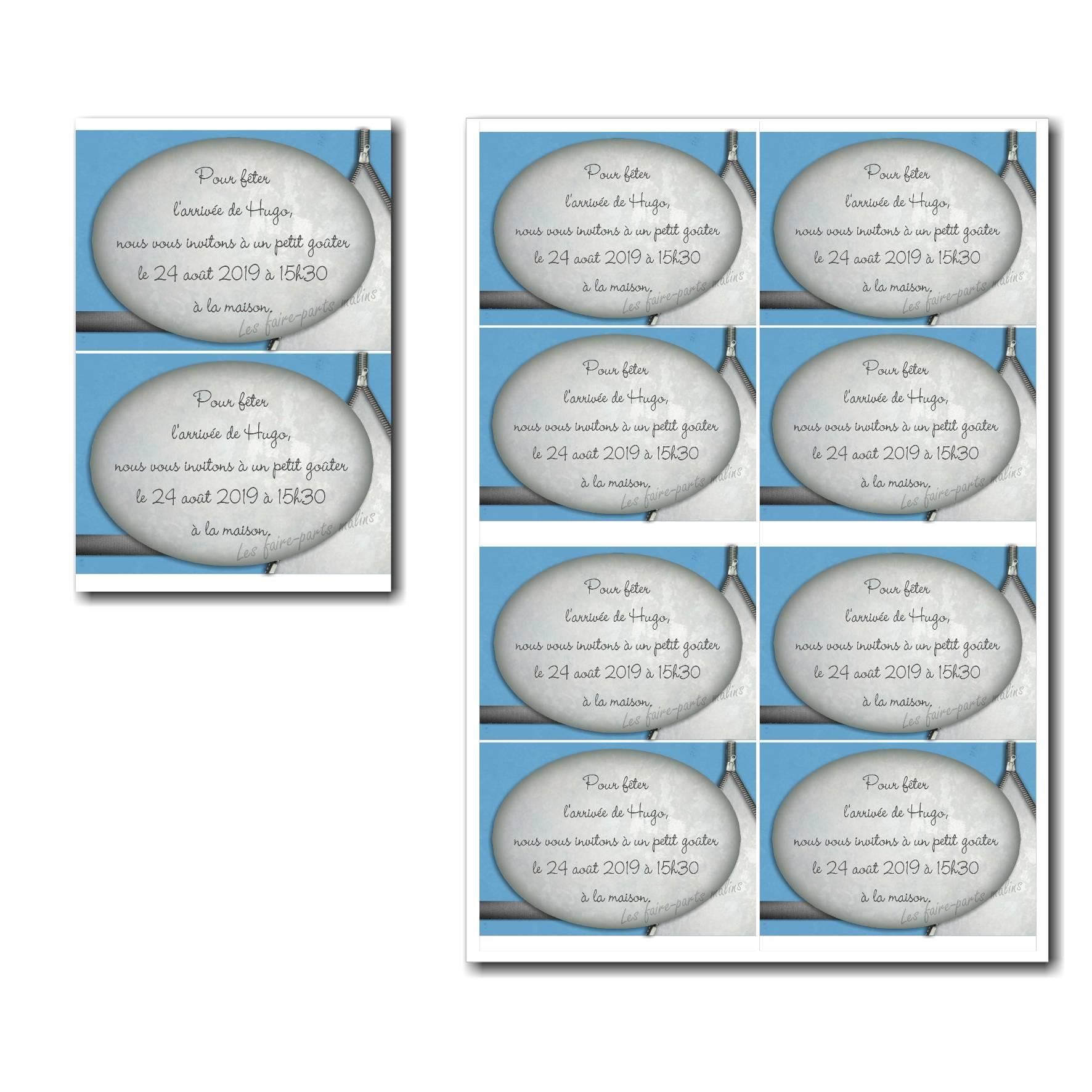 coupon réponse à imprimer fermeture eclair bleu et gris