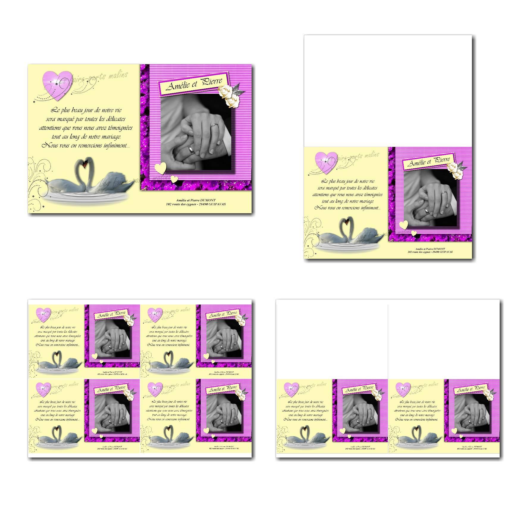 Pai 109 mariage cartes 10x15