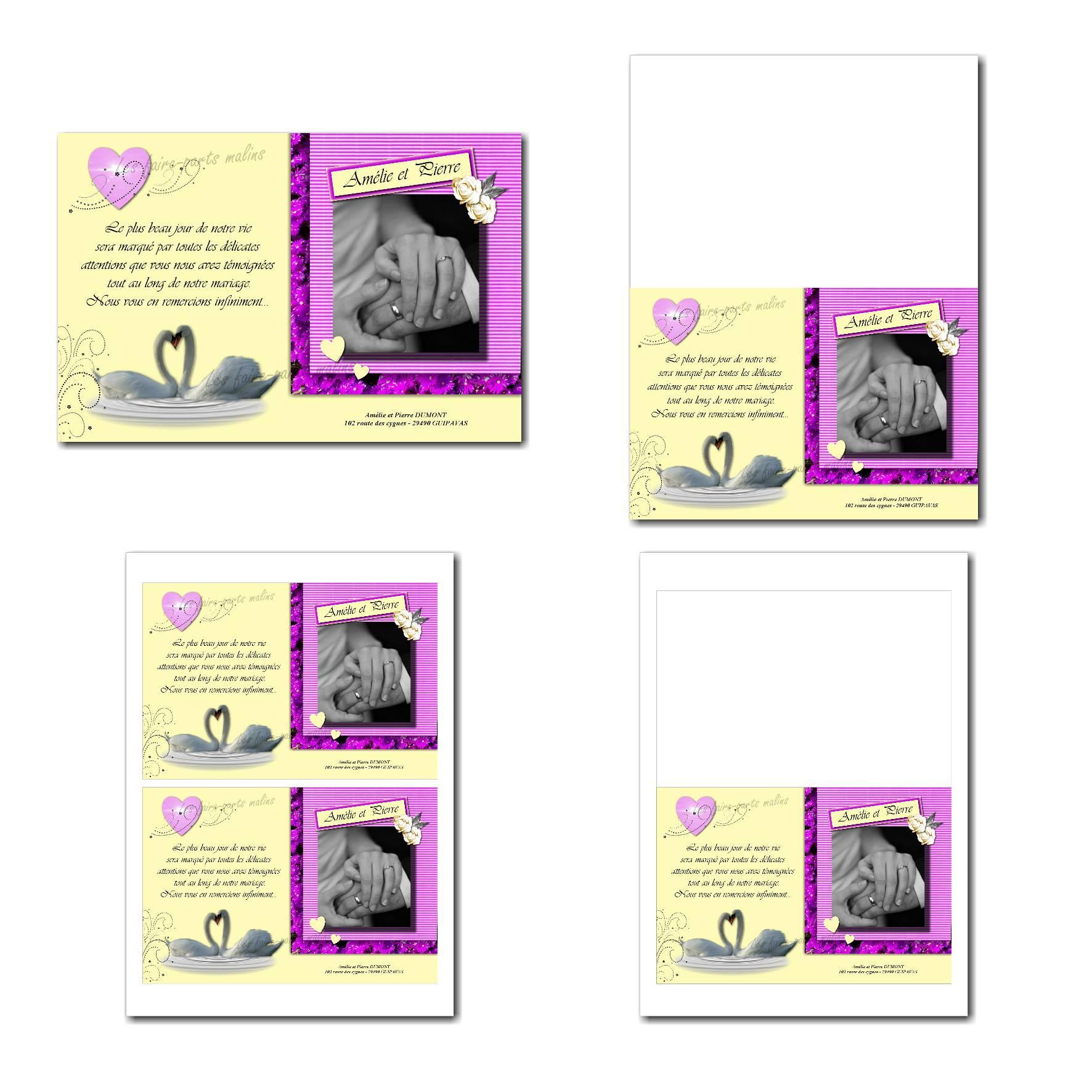 Pai 109 mariage cartes 12x19