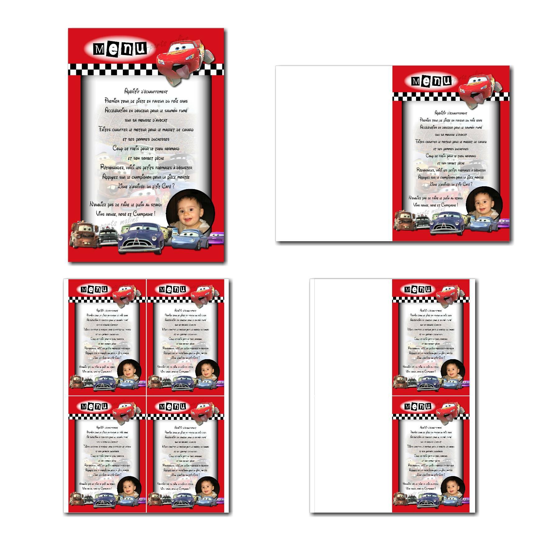 Pai 14 garcon menu 10x15