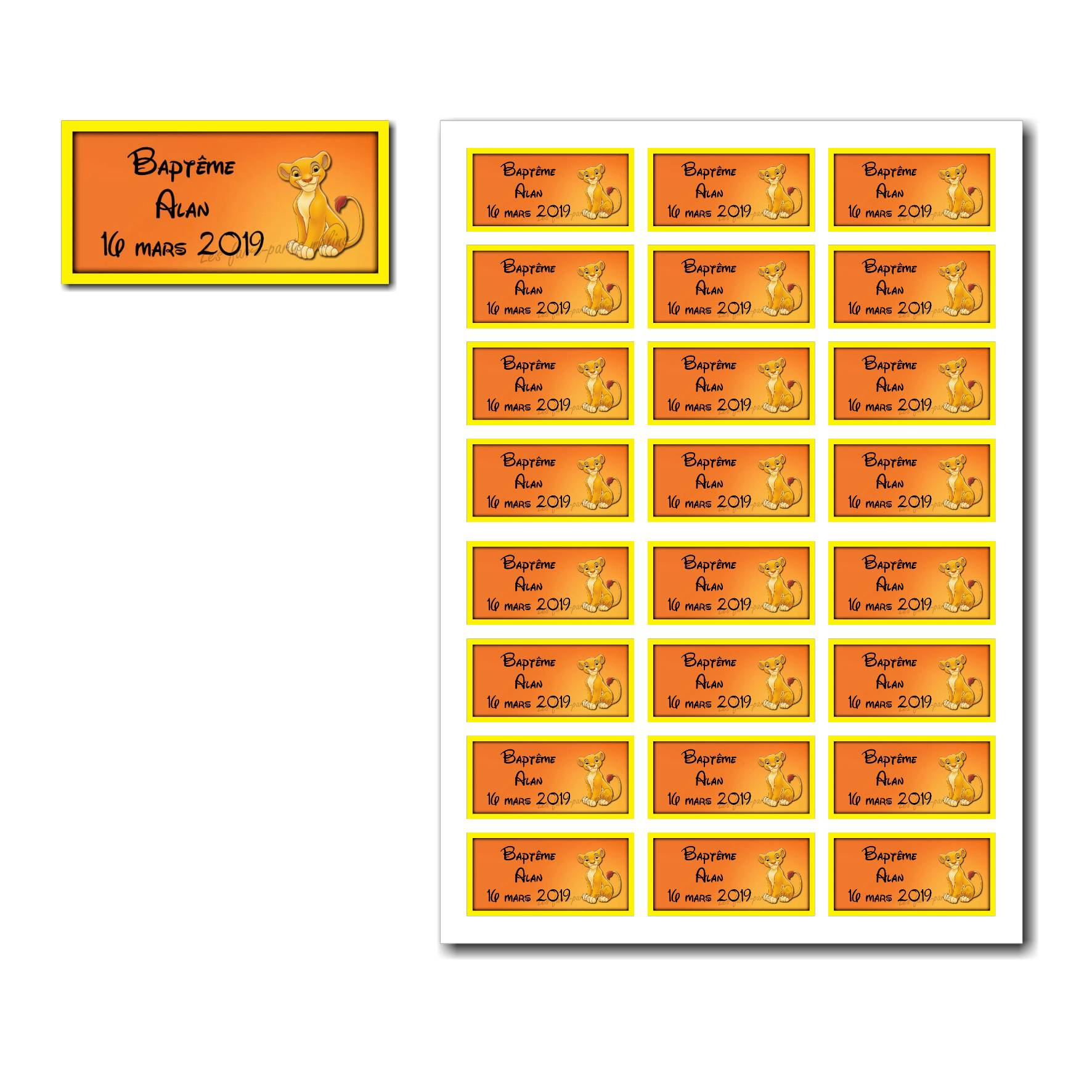 Pai 27 mixte etiquettes dragees