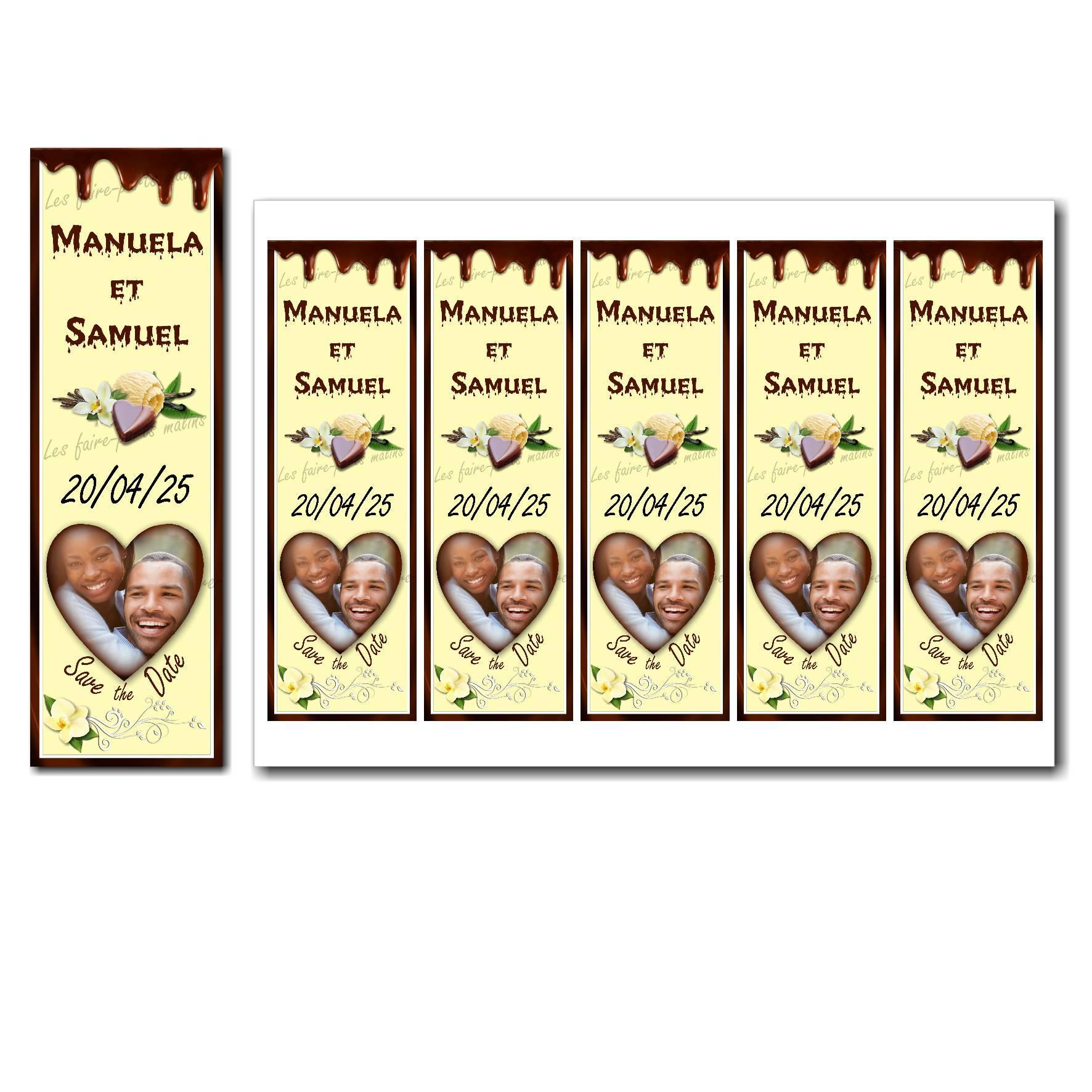 Save the date à imprimer vanille et chocolat
