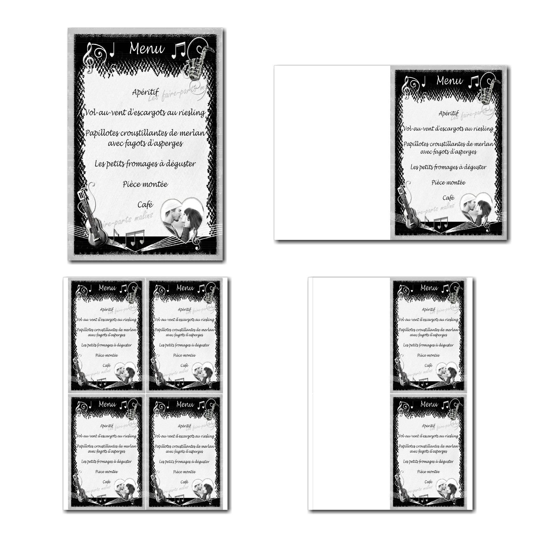 Pai 37 mariage menu 10x15