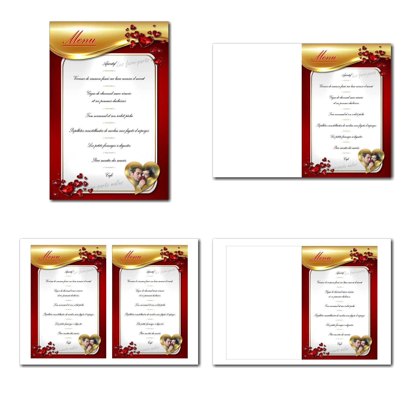 Pai 38 mariage menu 12x19