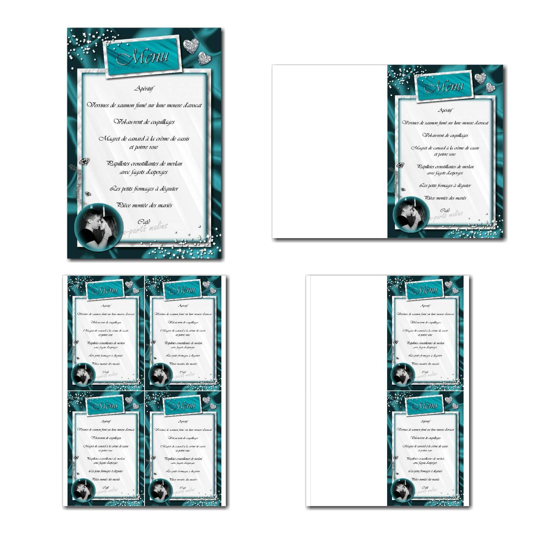 Pai 40 mariage menu 10x15