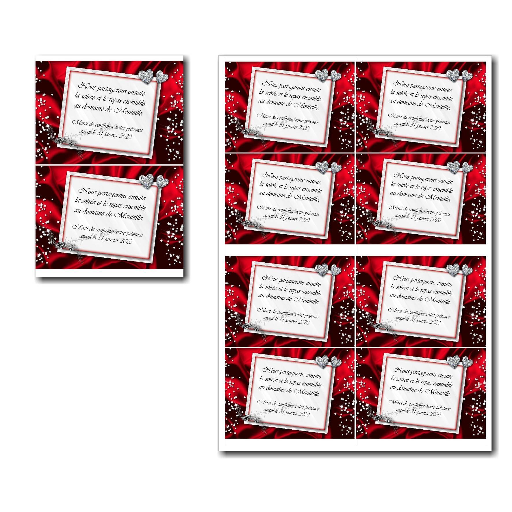 Pai 40 mariage rouge petite carte