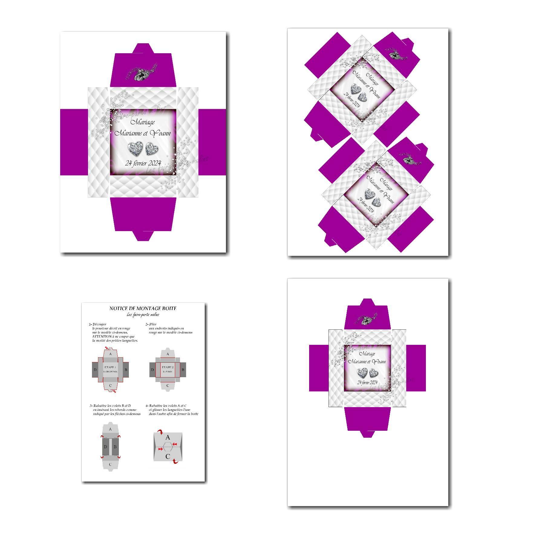 Pai 40 mariage violet boite